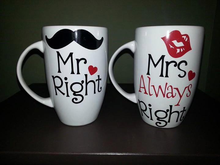 Image of: Mr and Mrs Coffee Mugs DIY