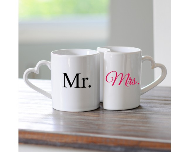 Image of: Mr and Mrs Coffee Mugs Design
