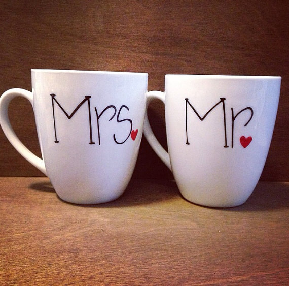 Image of: Mr and Mrs Coffee Mugs Ideas