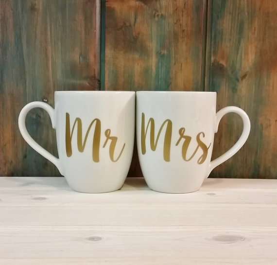 Image of: Mr and Mrs Coffee Mugs Image
