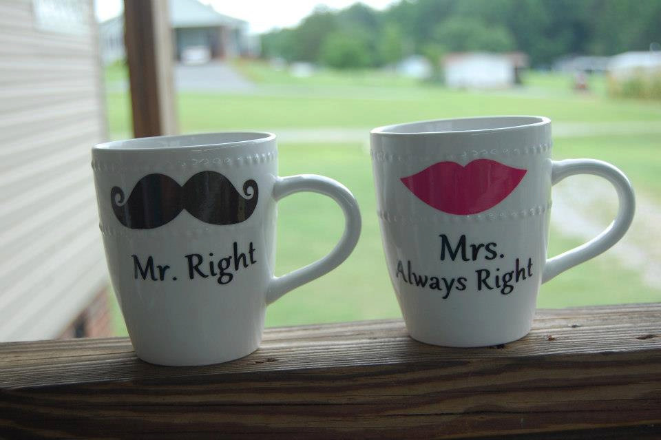 Image of: Mr and Mrs Coffee Mugs Set