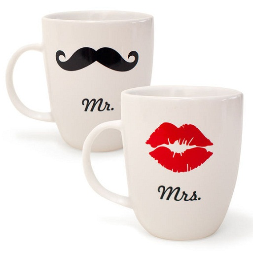 Mr and Mrs Coffee Mugs Size