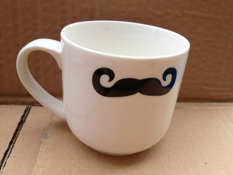 Image of: Mustache Mug Art