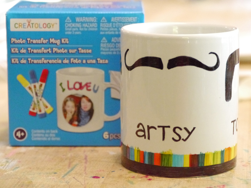 Image of: Mustache Mug Craft