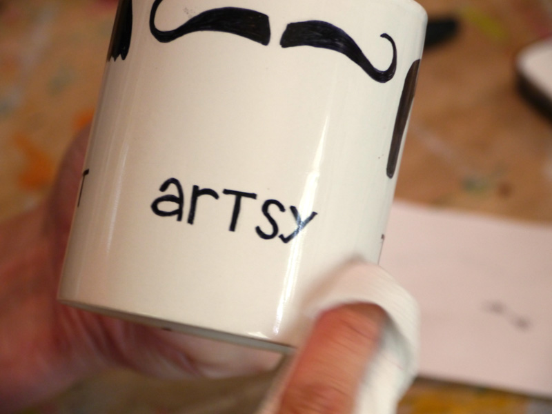 Image of: Mustache Mug Ideas