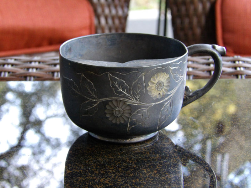 Image of: Mustache Mug Silverplate
