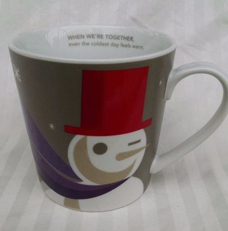Image of: New Snowman Coffee Mug
