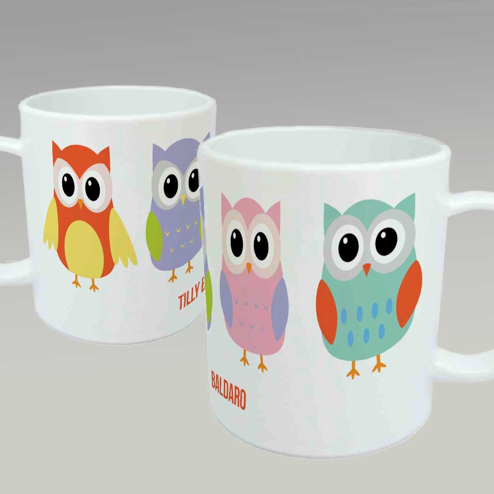 Image of: Owl Mugs Art