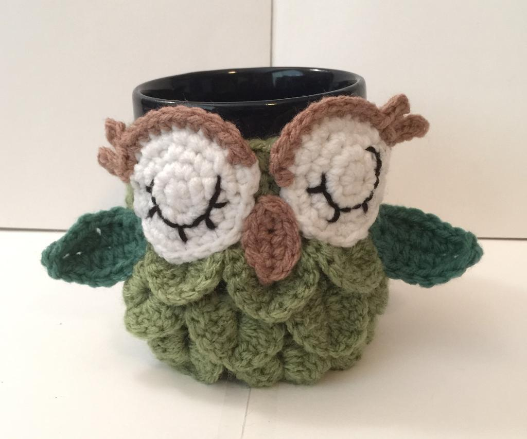 Image of: Owl Mugs Crochet