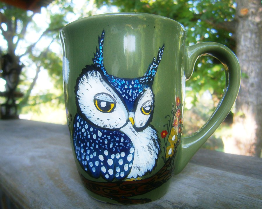 Image of: Owl Mugs Mural