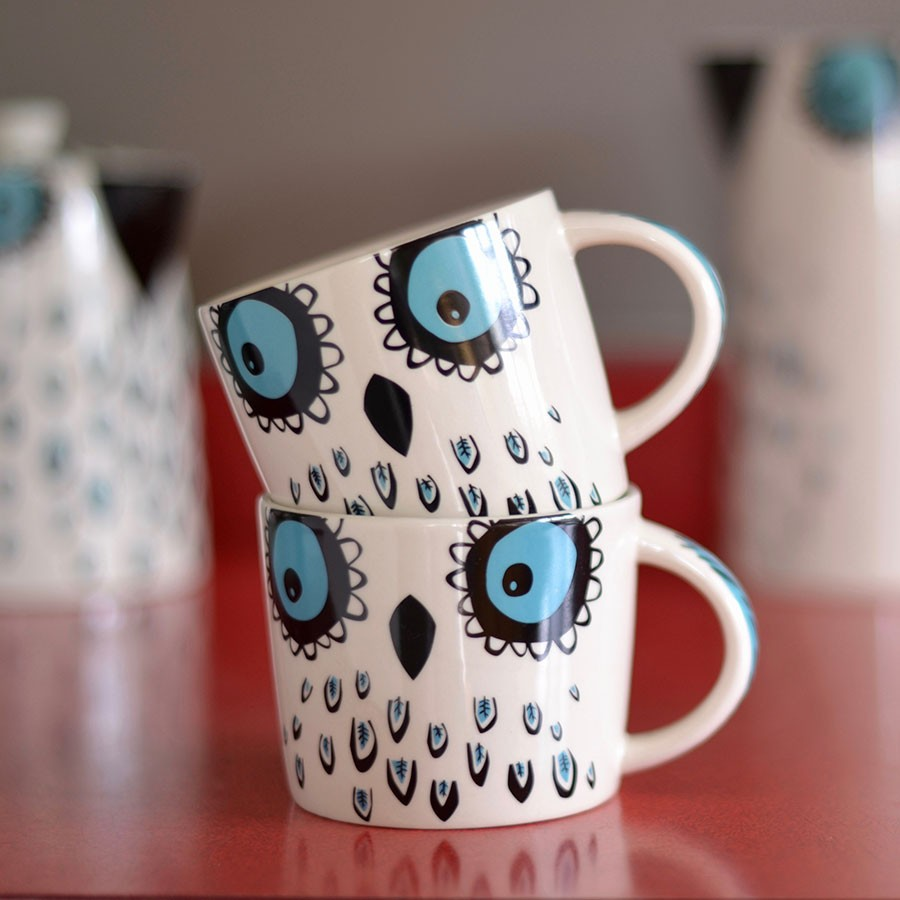 Image of: Owl Mugs Paint