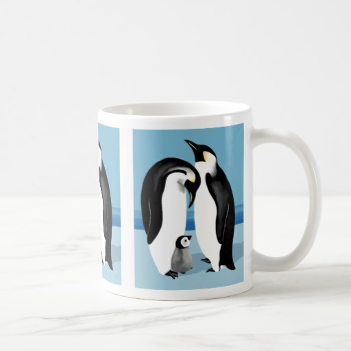 Image of: Penguin Mug Blue