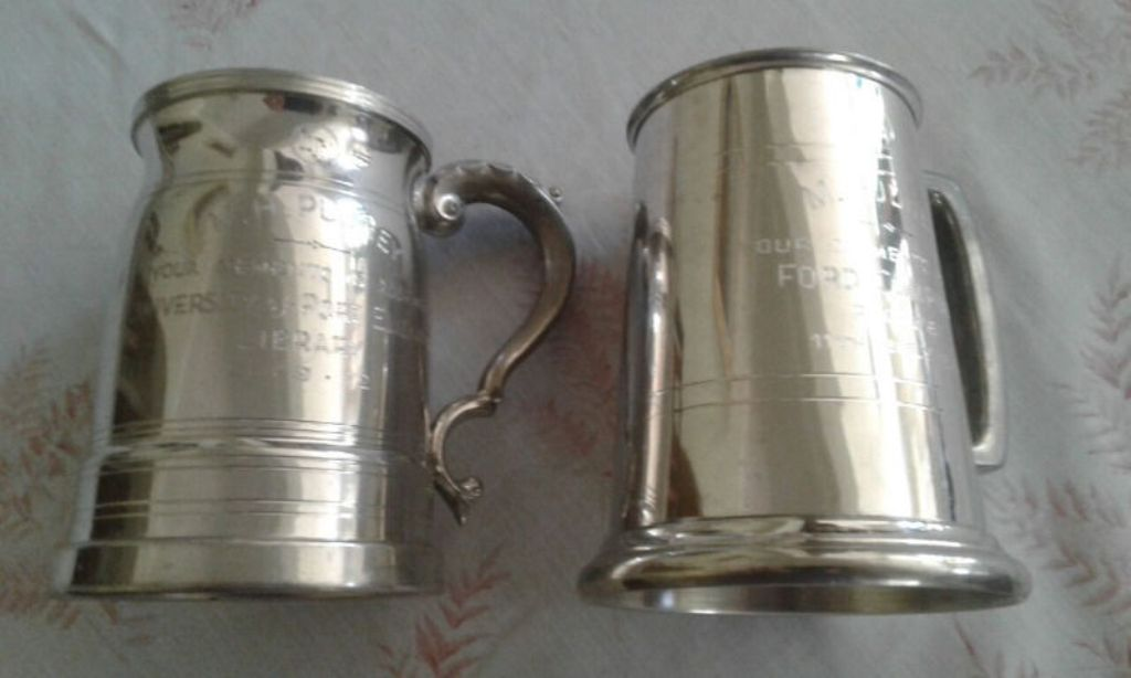 Image of: Pewter Mugs Antique