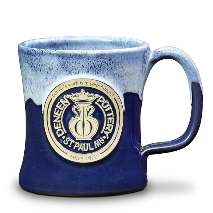 Image of: Pottery Mugs Blue