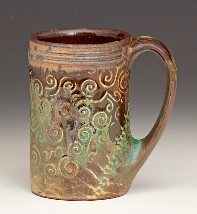 Image of: Pottery Mugs Brown