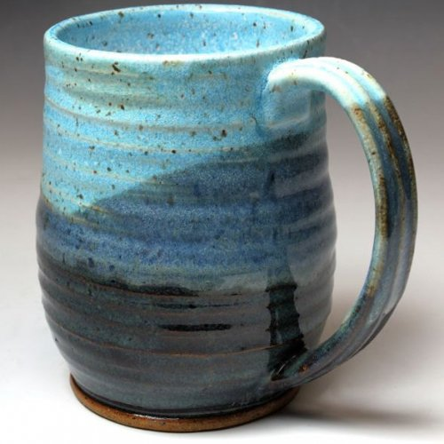 Image of: Pottery Mugs Green