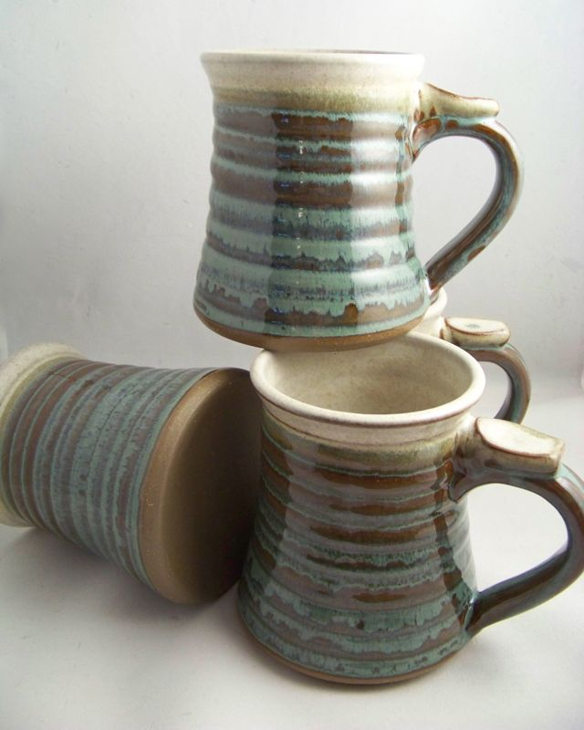 Image of: Pottery Mugs Size