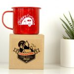 Red Custom Camping Mugs
