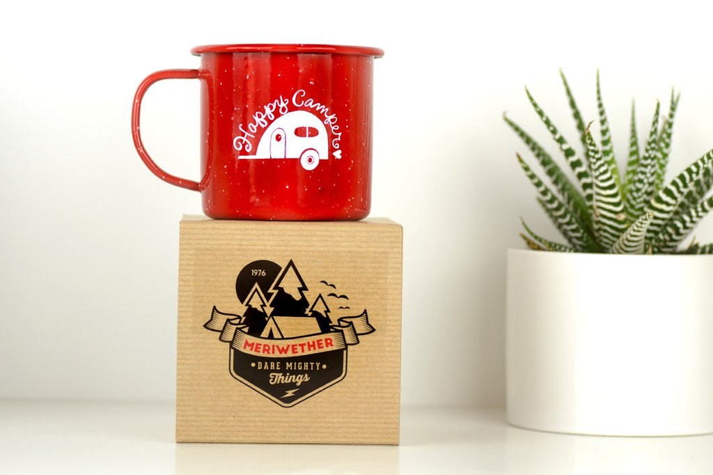 Image of: Red Custom Camping Mugs