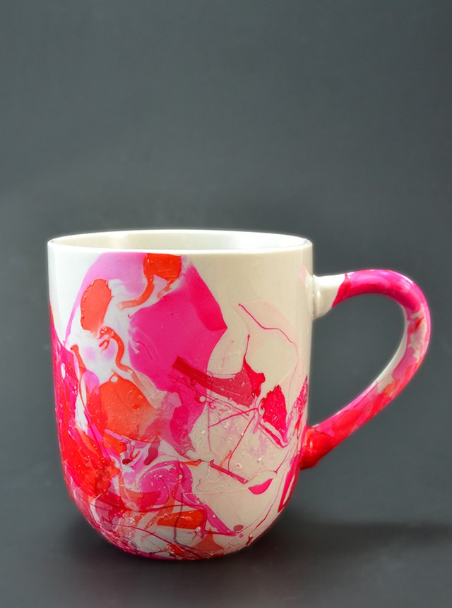 Image of: Red Marble Mug