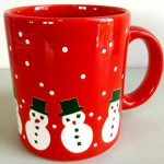 Red Snowman Coffee Mug