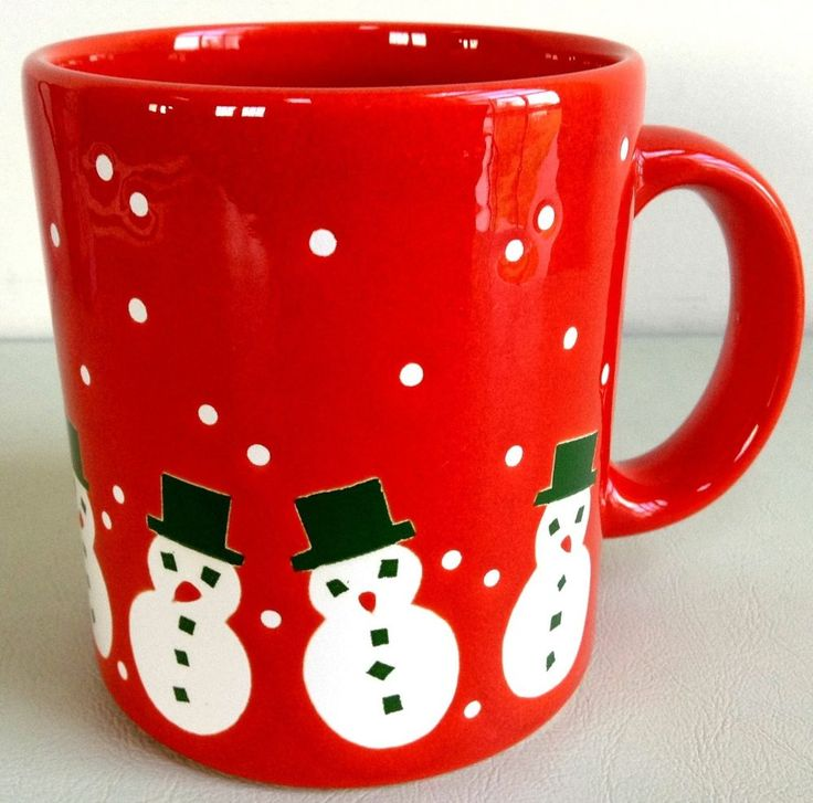 Image of: Red Snowman Coffee Mug