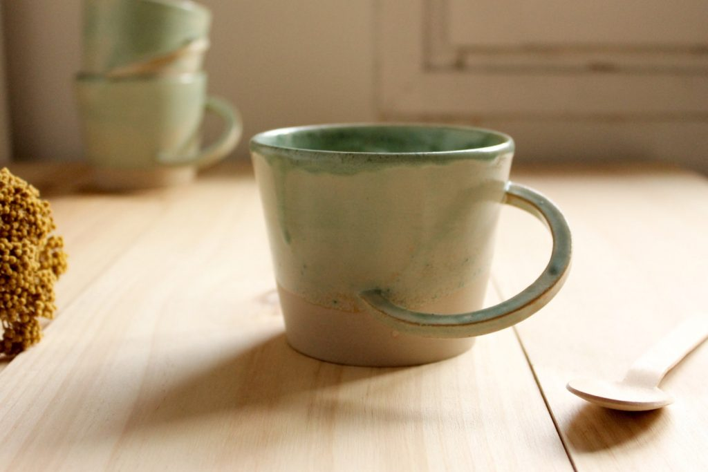 Image of: Rustic Stoneware Coffee Mugs