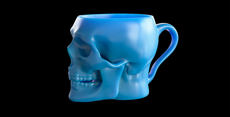 Image of: Skull Mug Blue