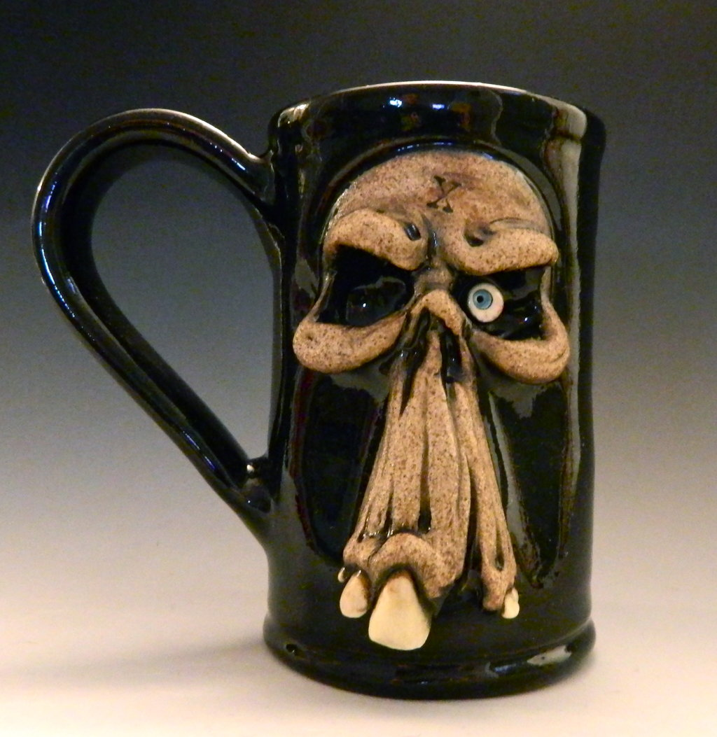 Image of: Skull Mug Ceramic