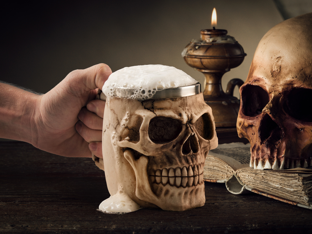Image of: Skull Mug Wine