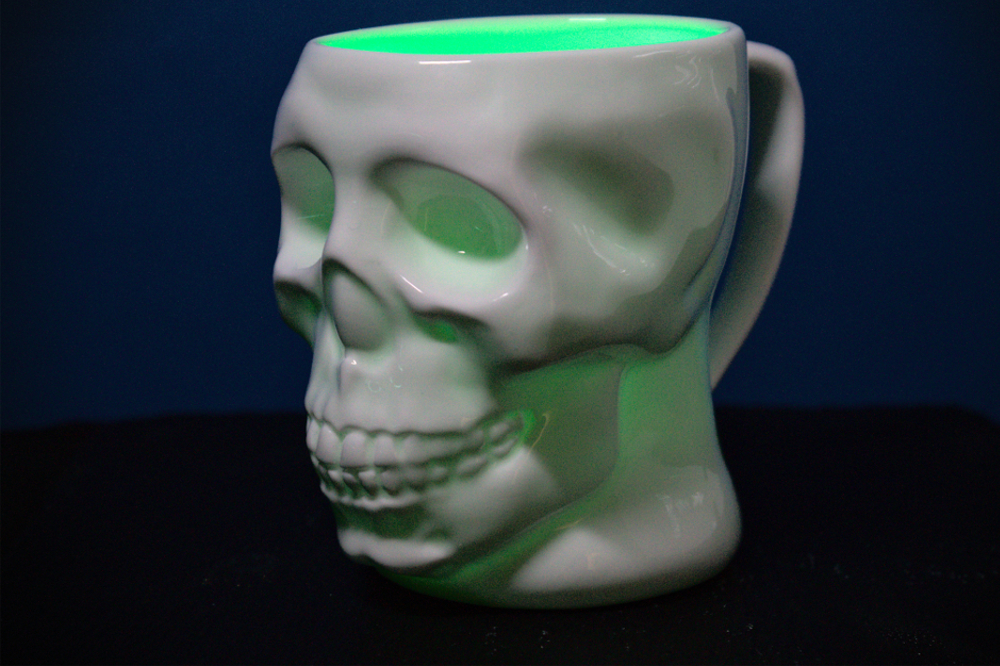 Image of: Skull Mug in White
