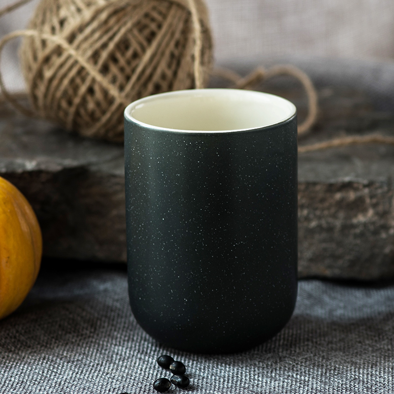 Image of: Soup Mug Black