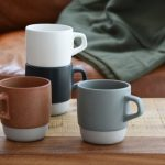 Stackable Coffee Mugs with Rack