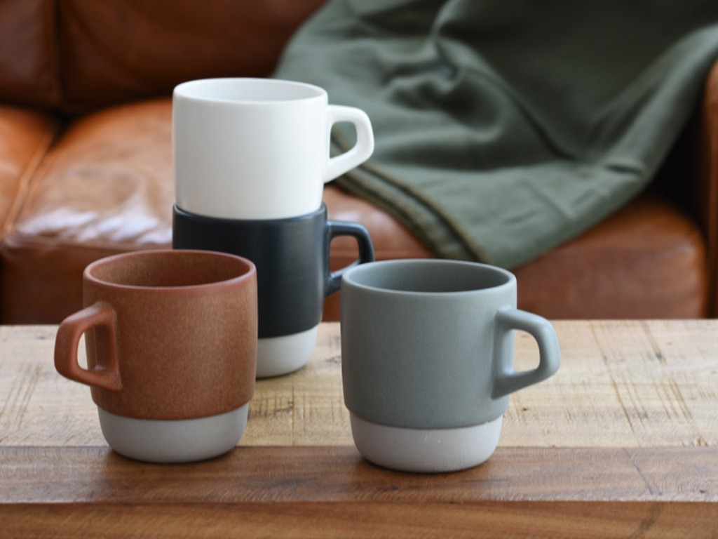 Image of: Stackable Coffee Mugs with Rack