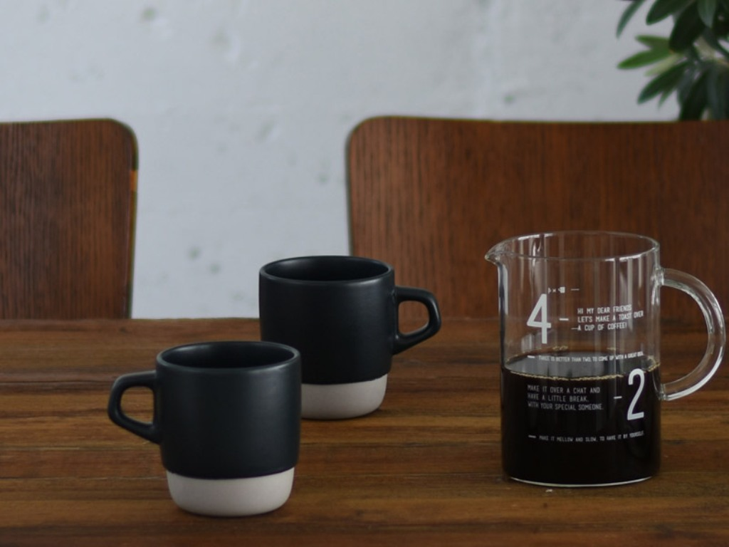 Stackable Coffee Mugs with Stand