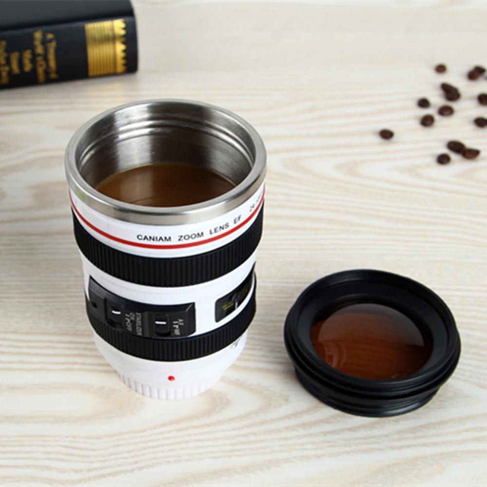 Stainless Steel Mug Camera Lens
