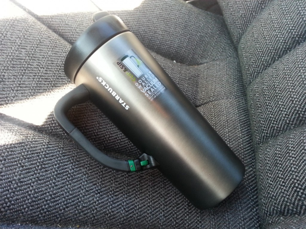 Image of: Starbuck Thermos Travel Mug With Handle