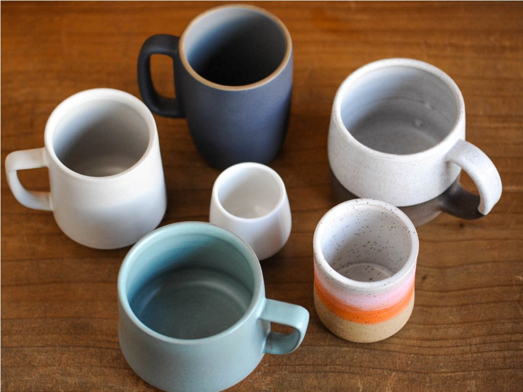 Image of: Stoneware Coffee Mugs Images