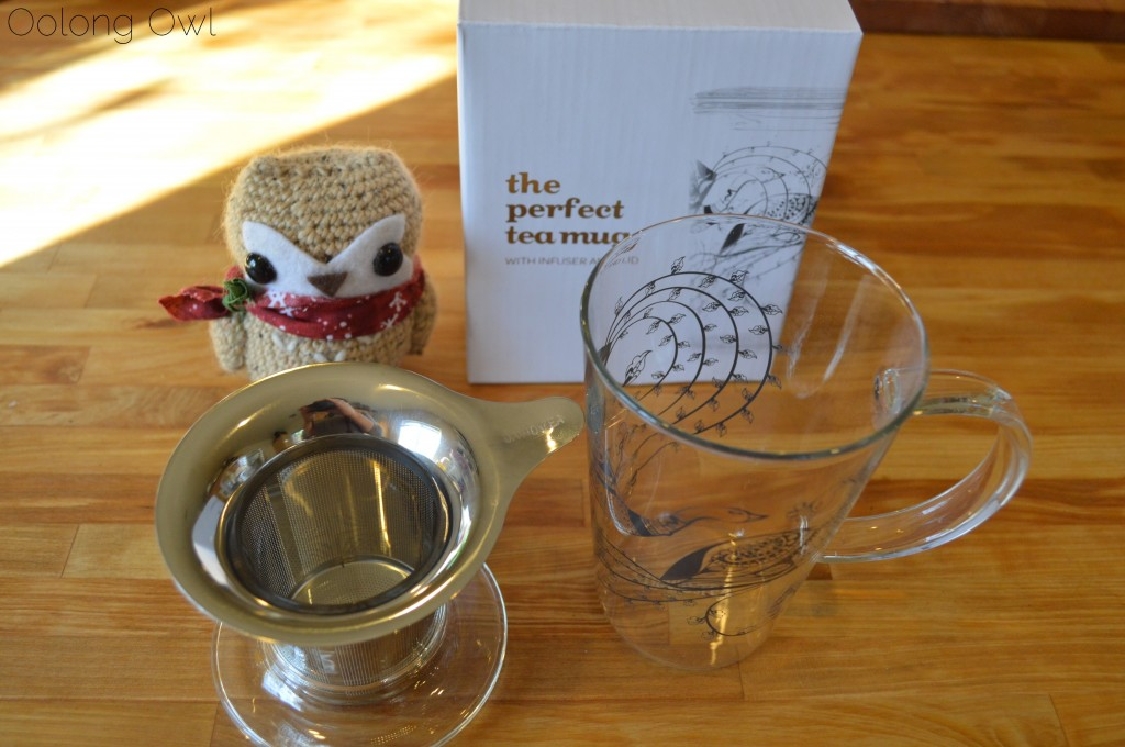 Image of: The Glass Tea Mug with Infuser