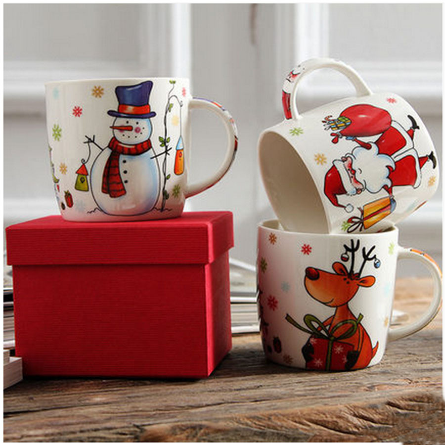 Triple Snowman Coffee Mug