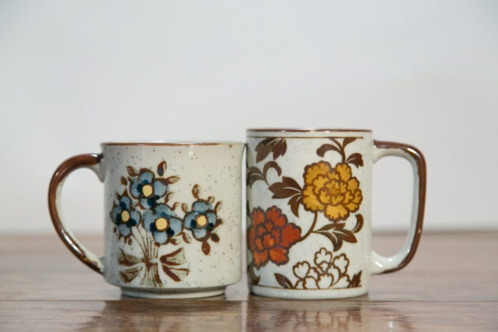Vintage Stoneware Coffee Mugs