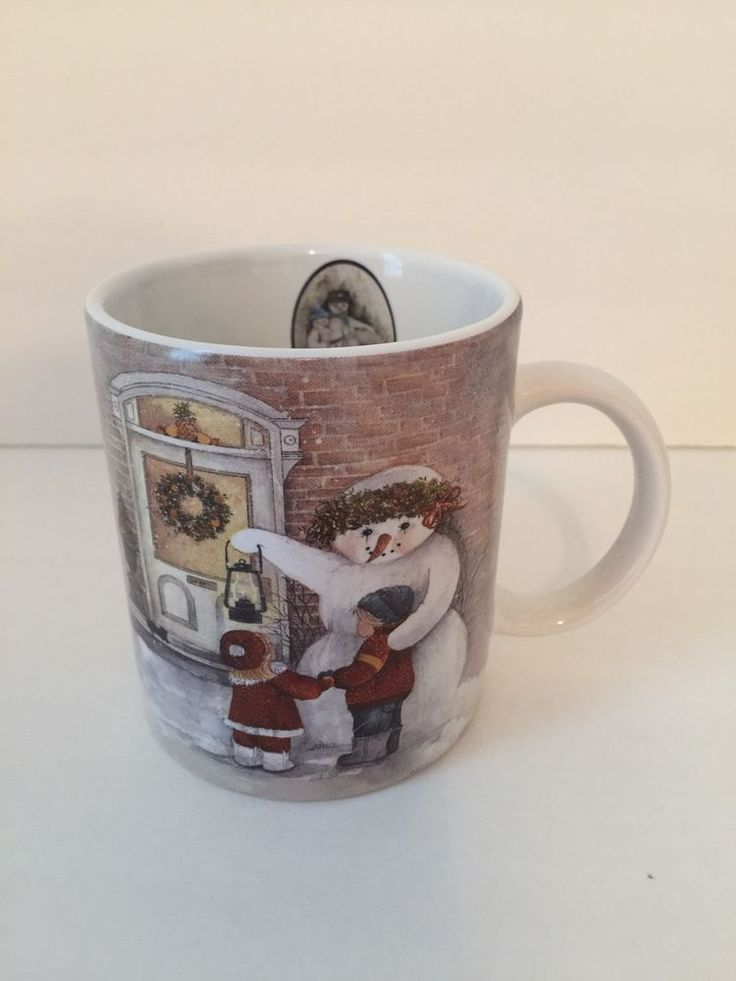 Image of: White Snowman Coffee Mug