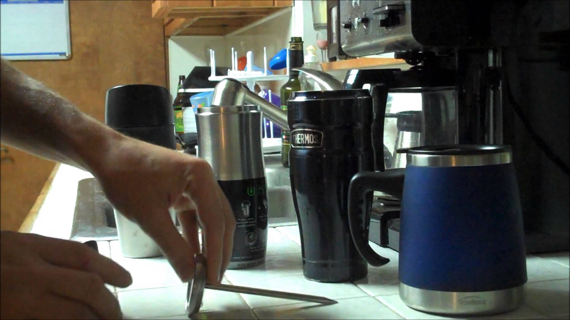 Thermos Stainless Steel King 16 Ounce Leak Proof Travel
