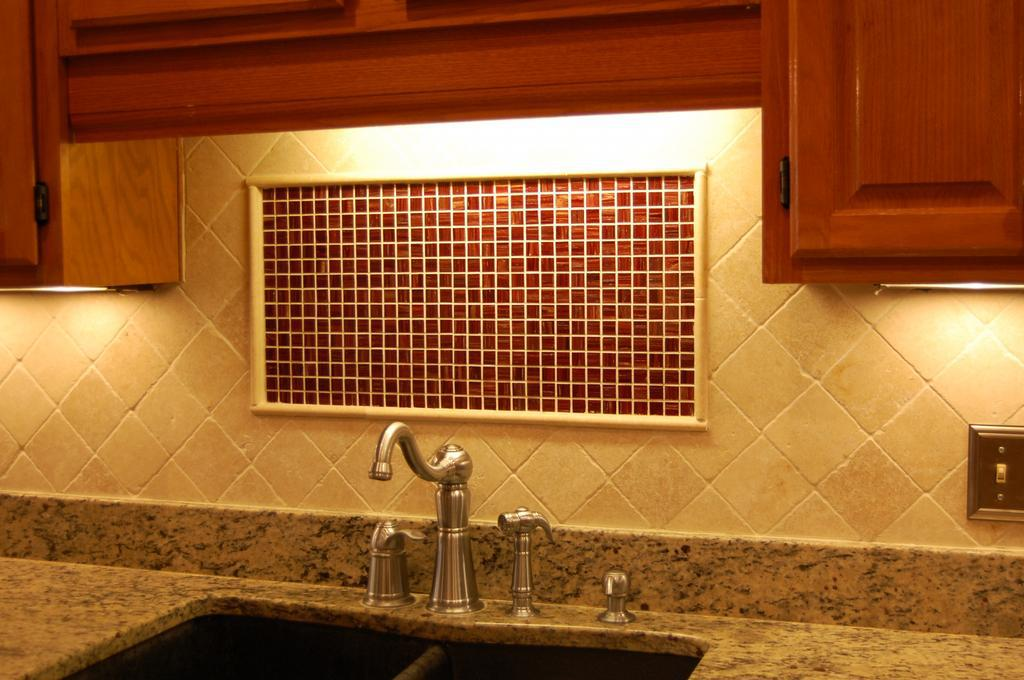 Image of: air stone backsplash cleaning