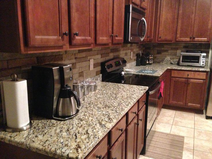 Image of: airstone as backsplash