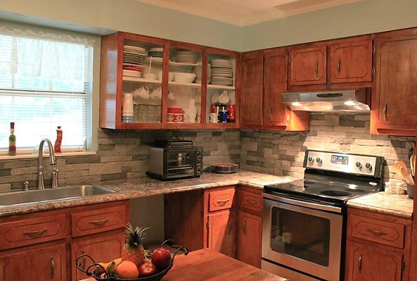 Image of: airstone backsplash