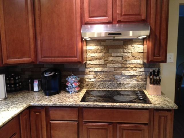 Image of: airstone kitchen backsplash