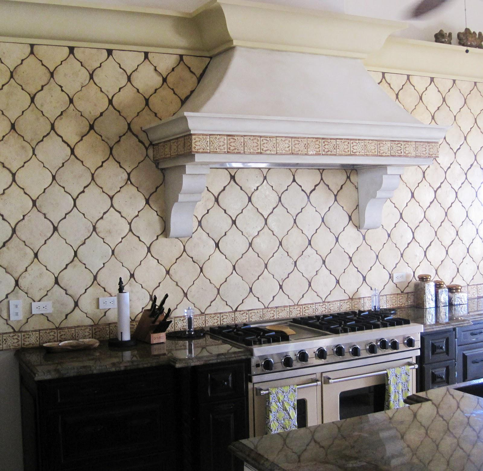 Image of: arabesque tile backsplash ideas