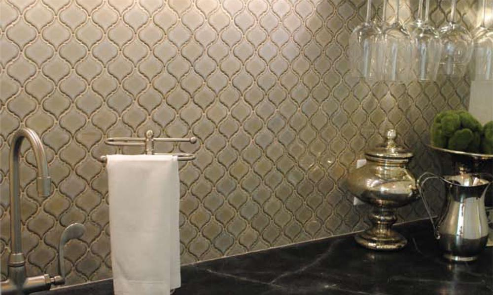 Image of: arabesque tile backsplash