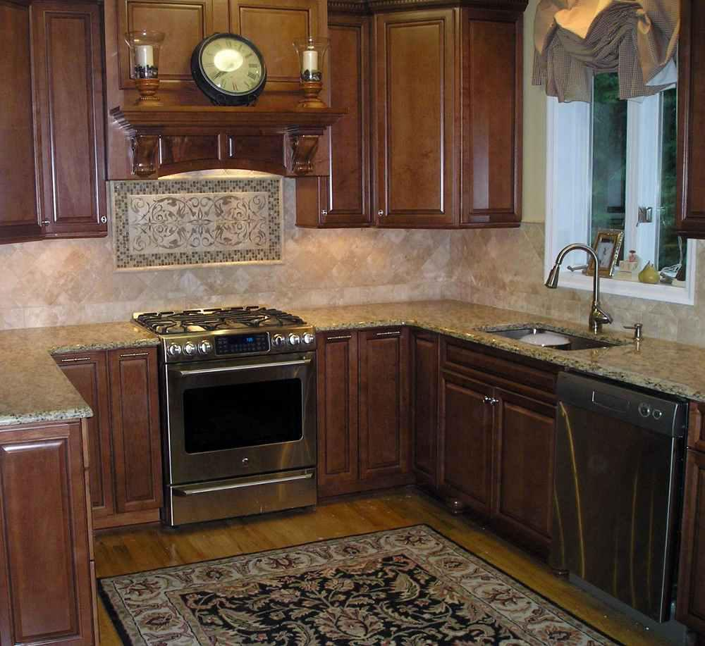 Image of: backsplash behind stove